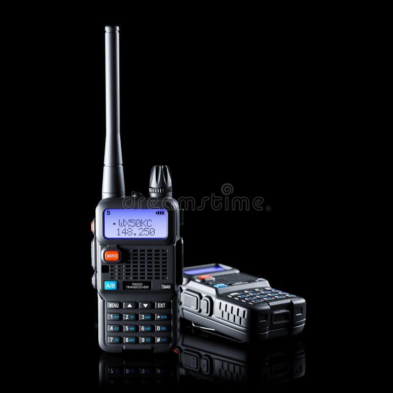 两双波段携带无线电话 库存例证
