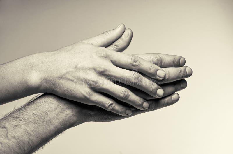 两只手-柔软 免版税图库摄影