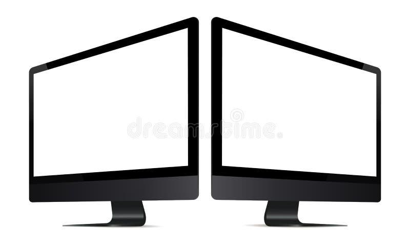 两台黑显示器 皇族释放例证