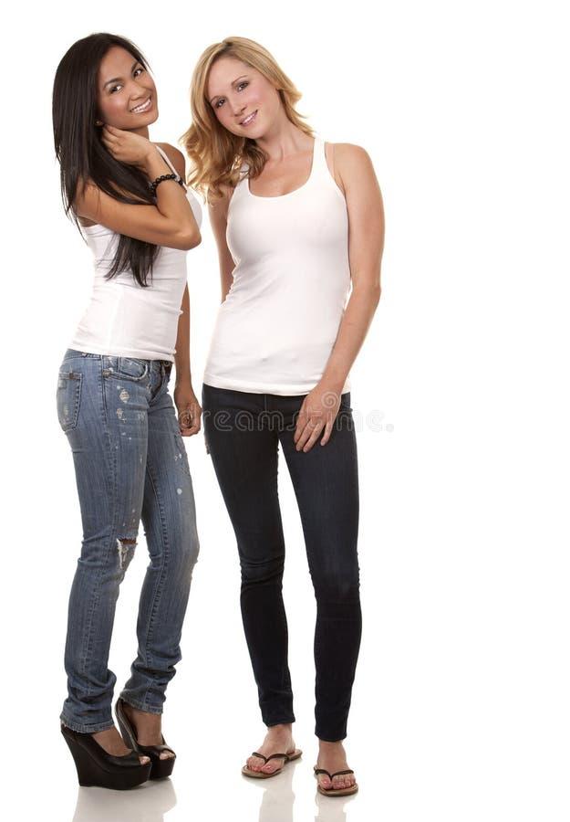 两名偶然妇女 库存图片