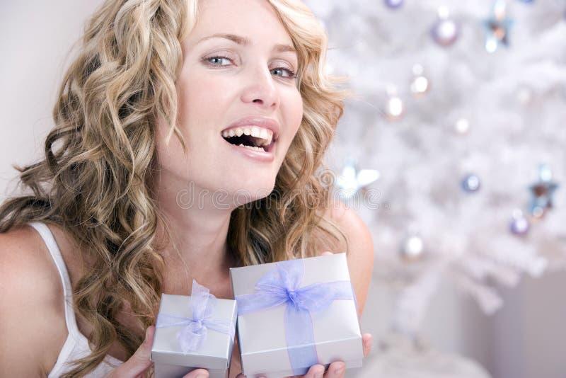 两圣诞节礼品您 库存照片