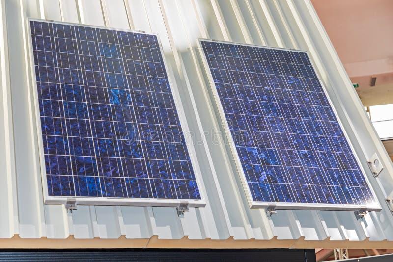 两块太阳能板 免版税图库摄影