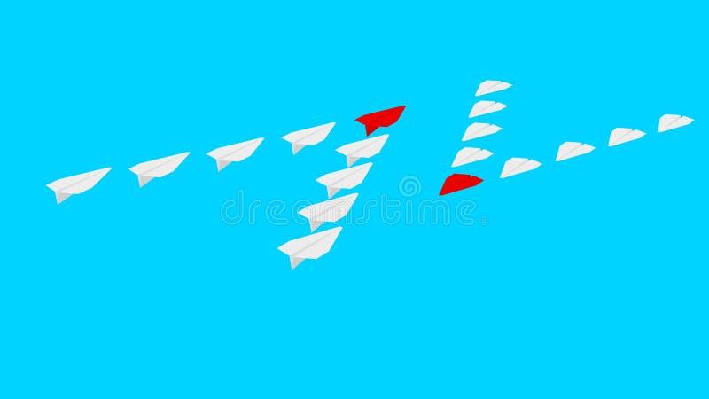 两家公司竞争 纸飞机 ?? 库存例证