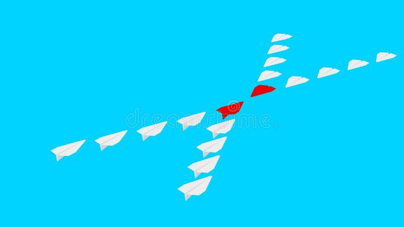 两家公司竞争 纸飞机 皇族释放例证
