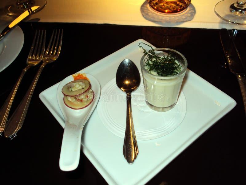 两异乎寻常,但是极端delishous开胃菜 免版税库存图片