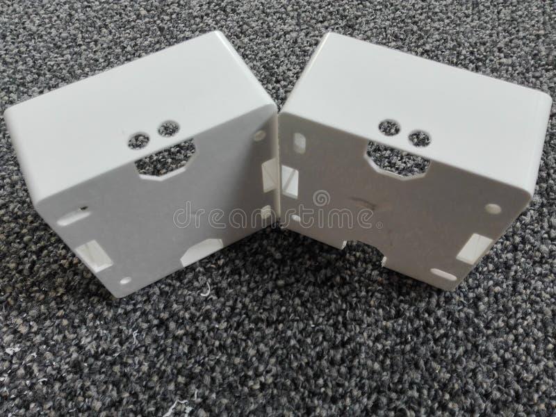 两微笑箱子 免版税库存照片