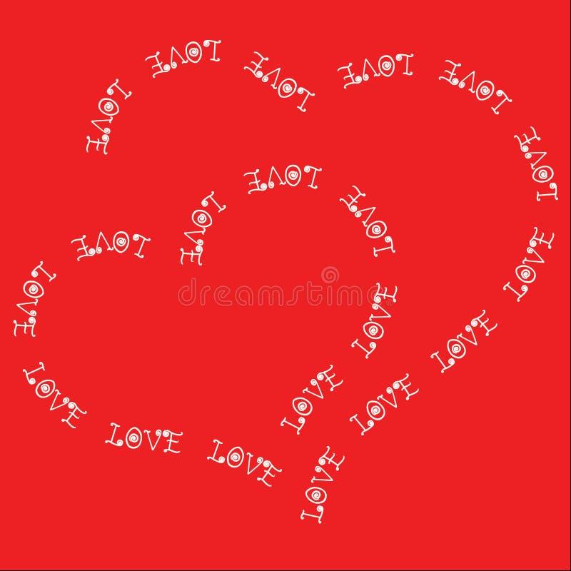 两心脏组成由文本 向量例证