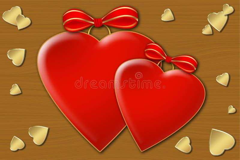 两心脏 免版税库存照片