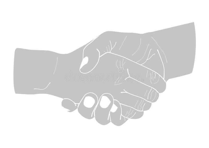 两握手的例证 向量例证