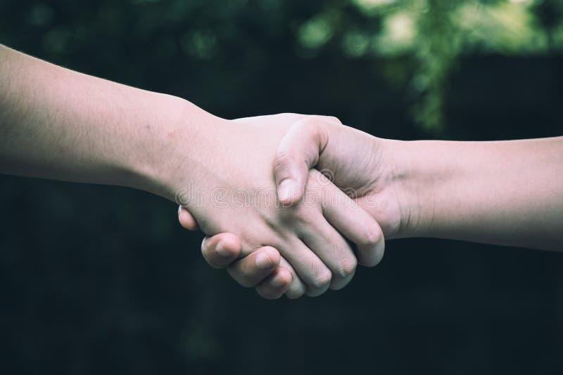 两握手的同事 免版税库存图片