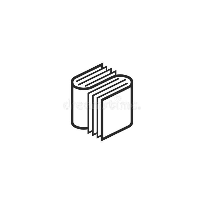 两本书商标字母S等量形状、一个标志一个教育规划的或书店 库存例证
