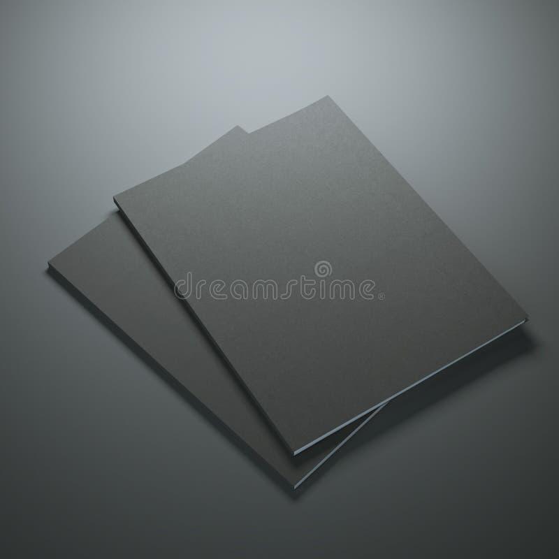 两本黑杂志 免版税图库摄影