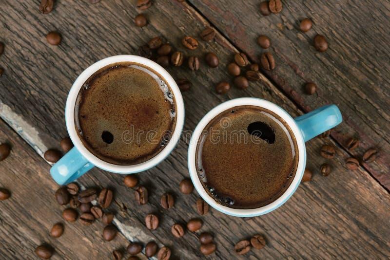 两杯咖啡 免版税库存图片