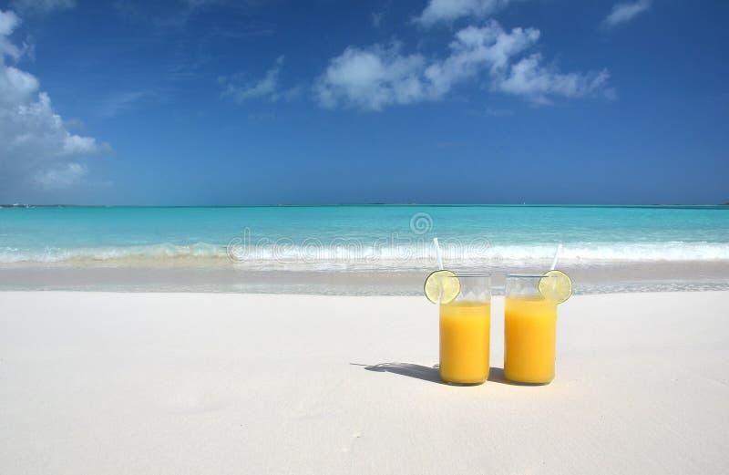 两杯橙汁 免版税库存图片