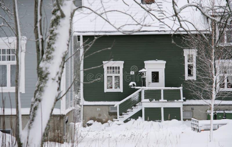 两栋瑞士样式别墅 免版税库存照片