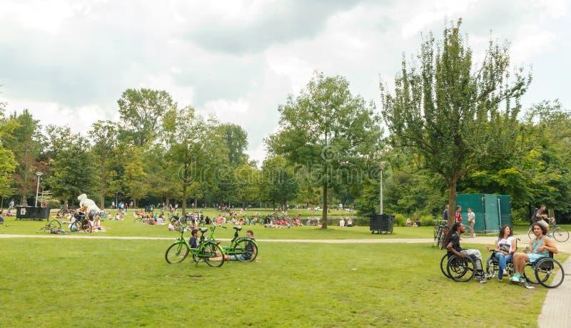两栖 Vondelpark 免版税图库摄影