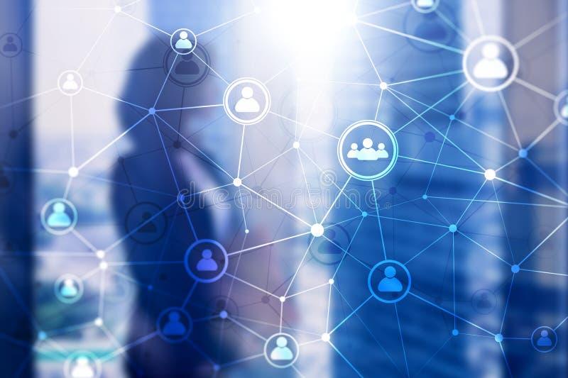 两次曝光人网络结构 HR -人力调配和补充概念 库存例证