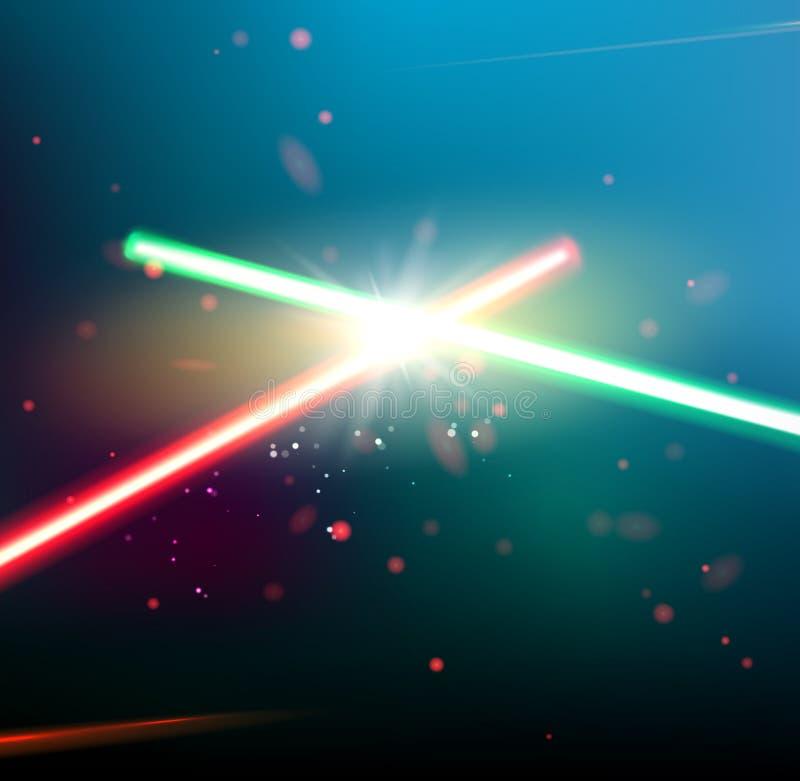两激光光芒 库存例证