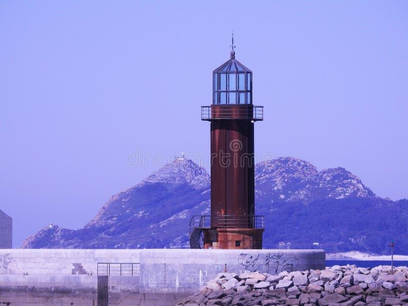两灯塔 免版税库存照片