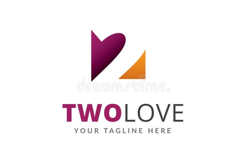 两爱商标设计模板设计 向量例证