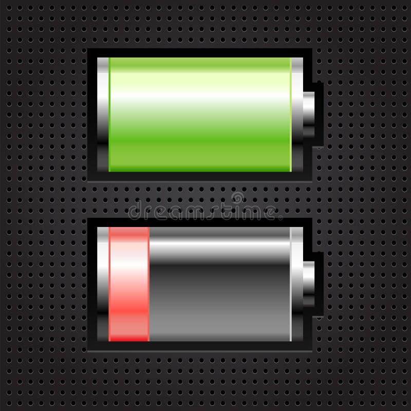 两电池 向量例证
