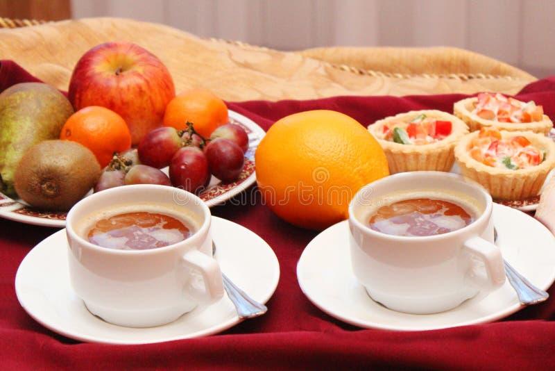 两的健康早餐 免版税图库摄影