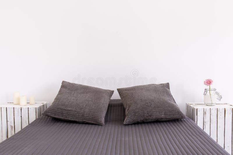 两的完善的床 图库摄影