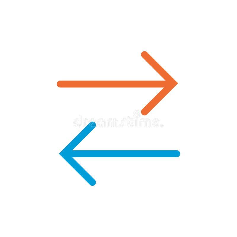 两种方式线性象 两种方式概念标志设计 在白色背景隔绝的稀薄的图表元素传染媒介例证 库存例证