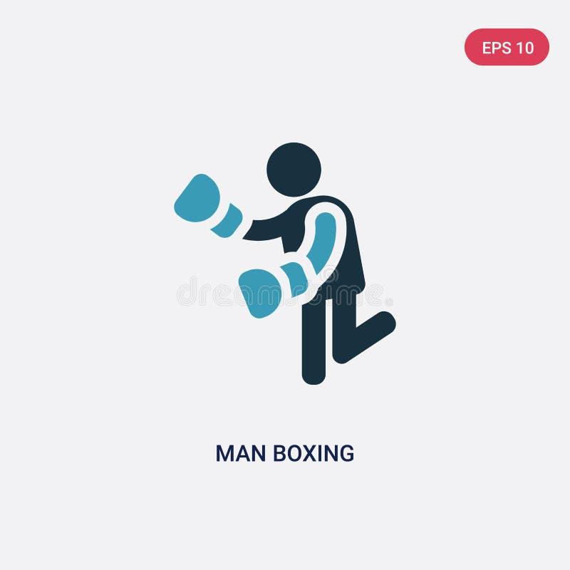 两种颜色的从人概念的人把装箱的传染媒介象 被隔绝的蓝色人拳击传染媒介标志标志可以是网的用途,流动和 皇族释放例证