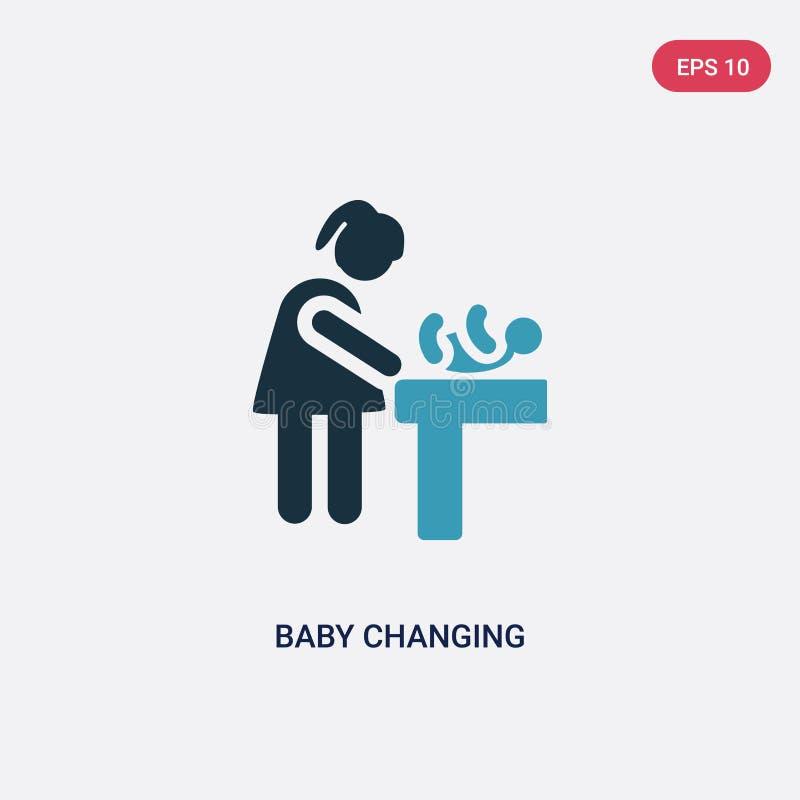 两种颜色的从人概念的婴孩改变的传染媒介象 被隔绝的蓝色婴儿改变的传染媒介标志标志可以是网的,机动性用途 库存例证