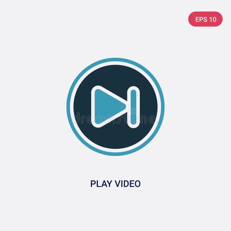 两种颜色的从摄影概念的戏剧录影传染媒介象 被隔绝的蓝色戏剧录影传染媒介标志标志可以是网的,机动性用途 库存例证