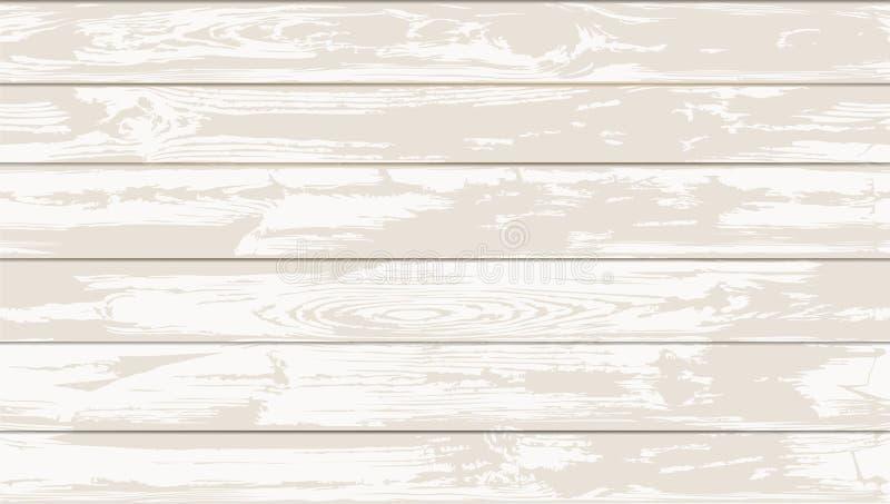 两种颜色的白色无缝的木纹理 皇族释放例证