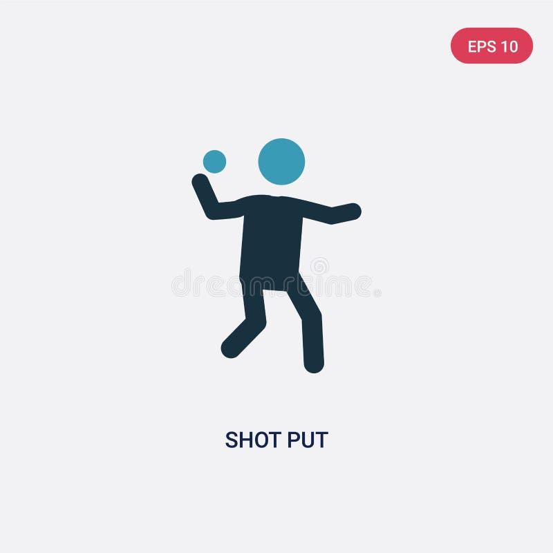 两种颜色的铅球从人概念的传染媒介象 被隔绝的蓝色铅球传染媒介标志标志可以是网、机动性和商标的用途 向量例证