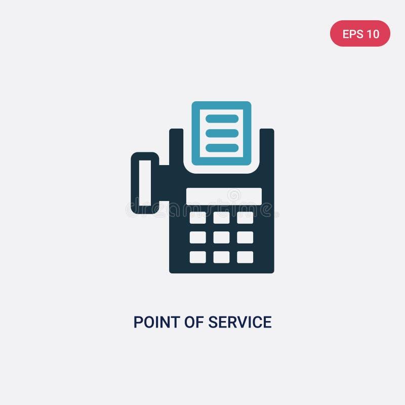 两种颜色的问题的服务从付款概念的传染媒介象 被隔绝的蓝蚝服务传染媒介标志标志可以是网的用途 库存例证