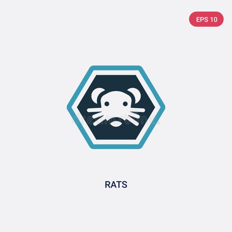 两种颜色的鼠导航从标志概念的象 被隔绝的蓝色鼠传染媒介标志标志可以是网、机动性和商标的用途 10 eps 皇族释放例证