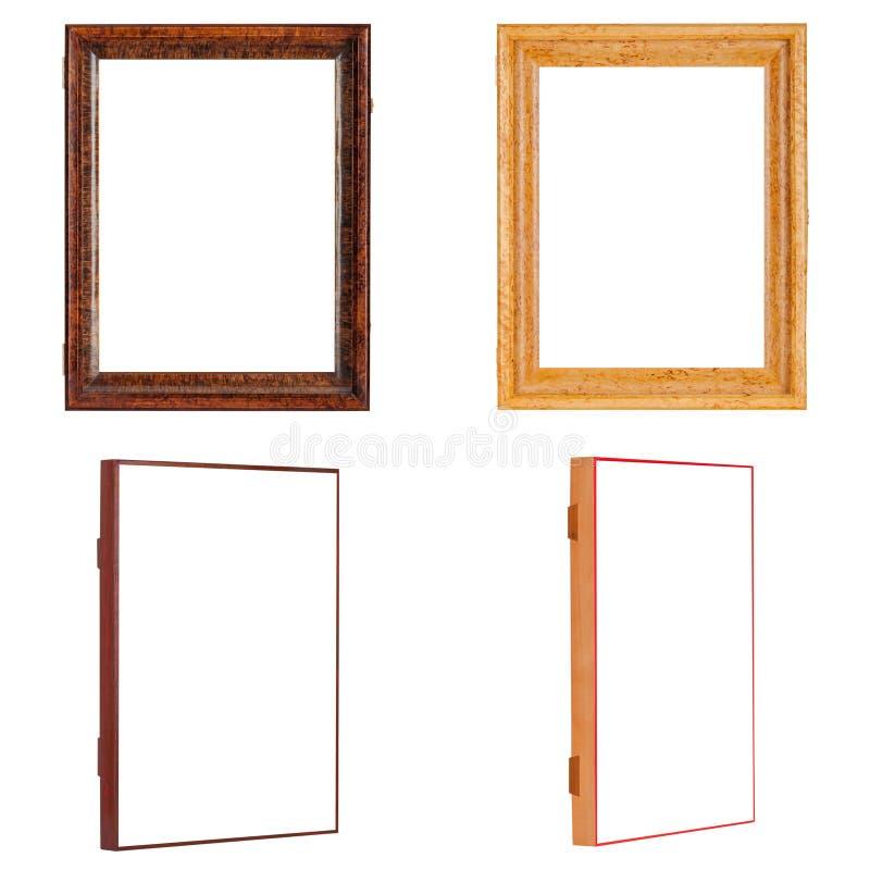 两空的木金子和棕色框架的图片 图库摄影