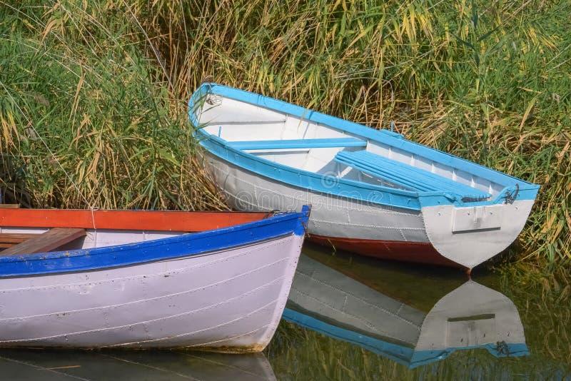 两艘渔船 免版税库存照片