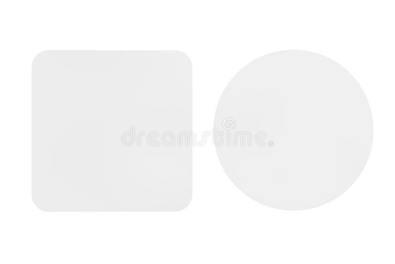 两艘白色空白的啤酒沿海航船 3d翻译 库存例证