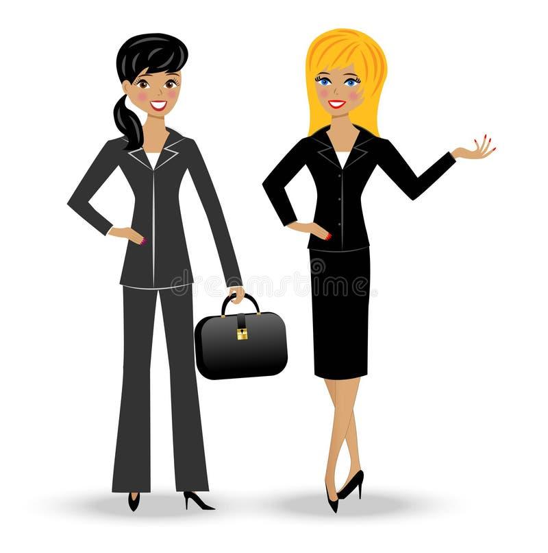 两苗条女商人 库存例证
