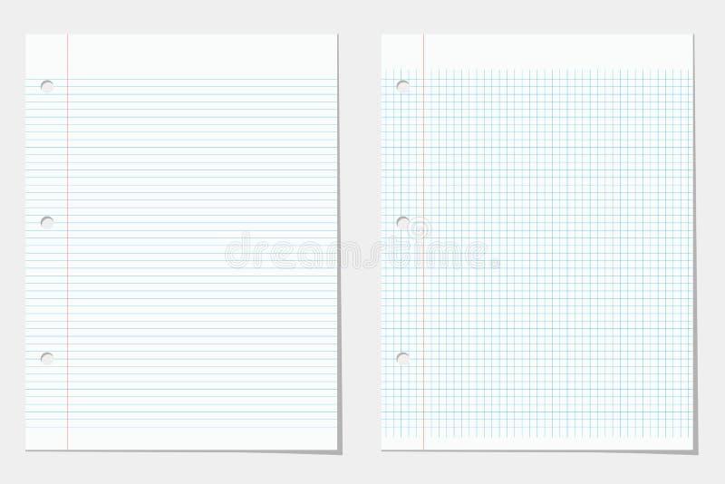 两被排行的笔记本板料 皇族释放例证