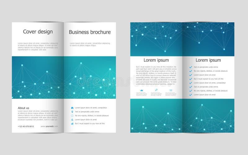 两褶的企业小册子模板有分子结构背景,传染媒介例证 皇族释放例证