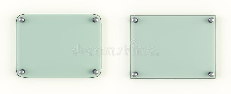 两透明玻璃板嘲笑 免版税库存照片