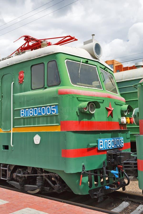 两部分的主流货物电力机车VL80弗拉基米尔 免版税库存照片