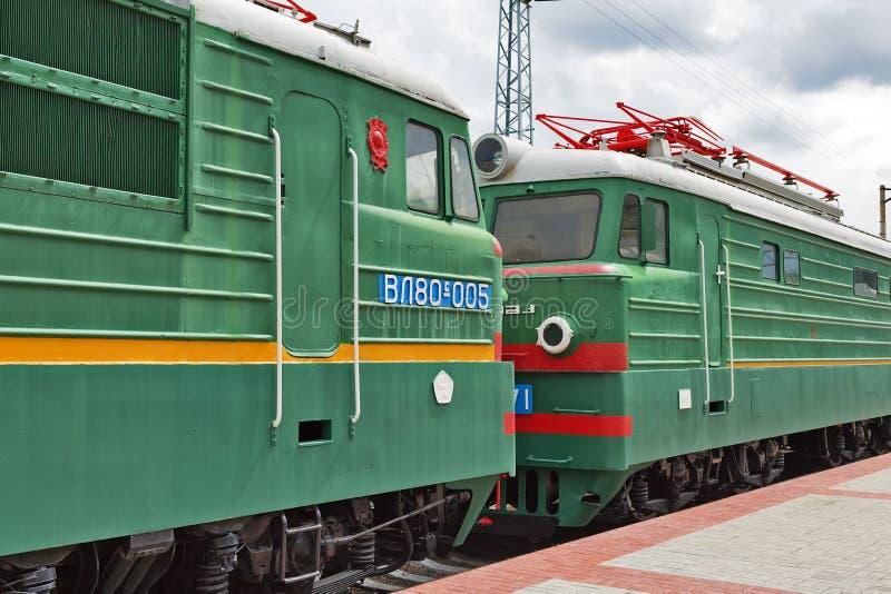 两部分的主流货物电力机车VL80弗拉基米尔 库存照片
