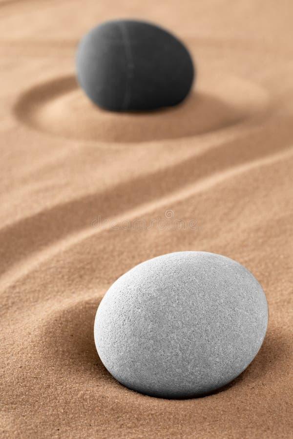 两重性的金和杨标志在古老中国哲学方面 库存图片