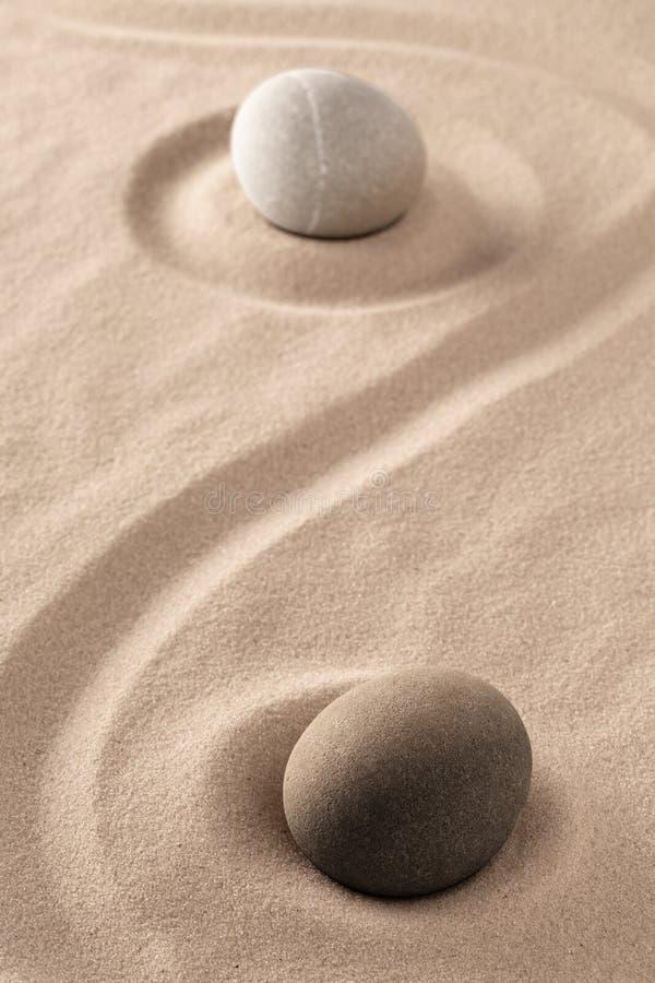 两重性的金和杨标志在古老中国哲学方面 免版税库存照片