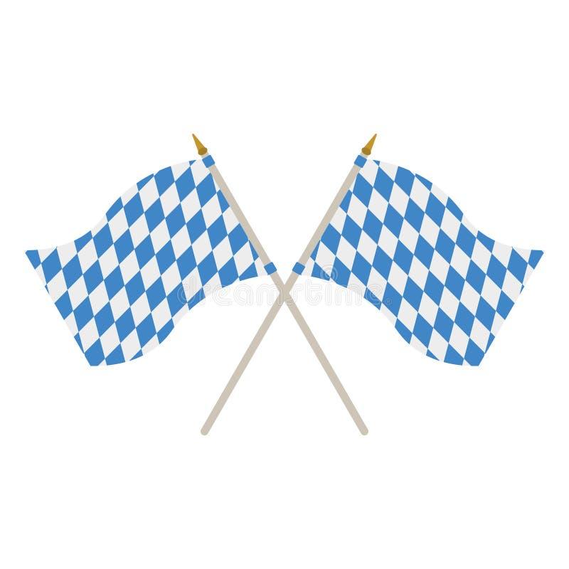 两面巴法力亚旗子 皇族释放例证