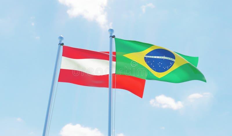两面挥动的旗子 向量例证
