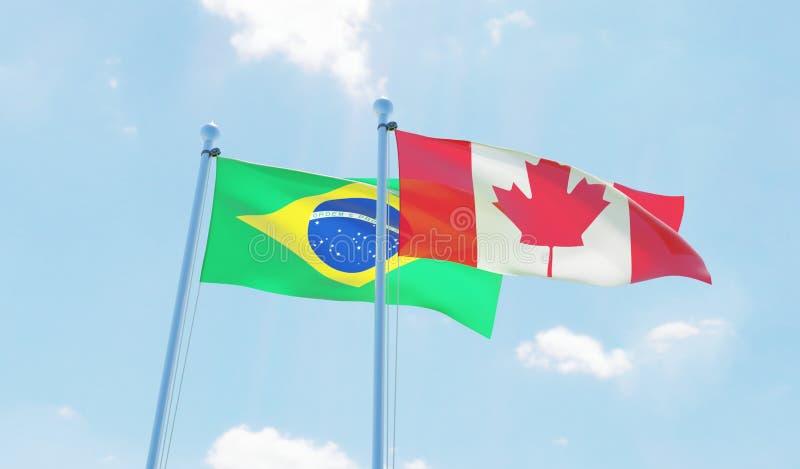 两面挥动的旗子 皇族释放例证
