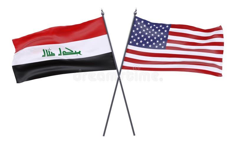 两面横渡的旗子 向量例证
